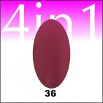 Gel-Lac Oja Semi Permanent One Stroke 4 in1  #36  15ml Gel Lac One Stroke 4 in 1